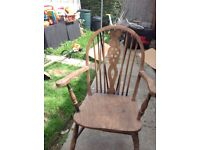 Old pine chair