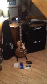 Gibson les paul gold top with Marshall cab