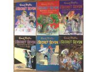 6 Secret Seven books by Enid Blyton
