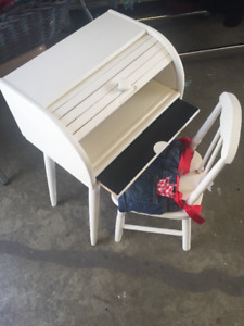 Breadbox turned childs desk and chair set