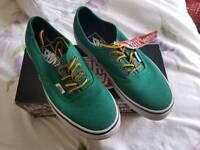 Brand new Size 4 green VANS