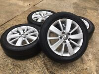 "GENUINE VW 16"" CROFT GOLF MK5/MK6/MK7 ALLOYS w/TYRES - CADDY/TOURAN - MINT - SLOUGH"
