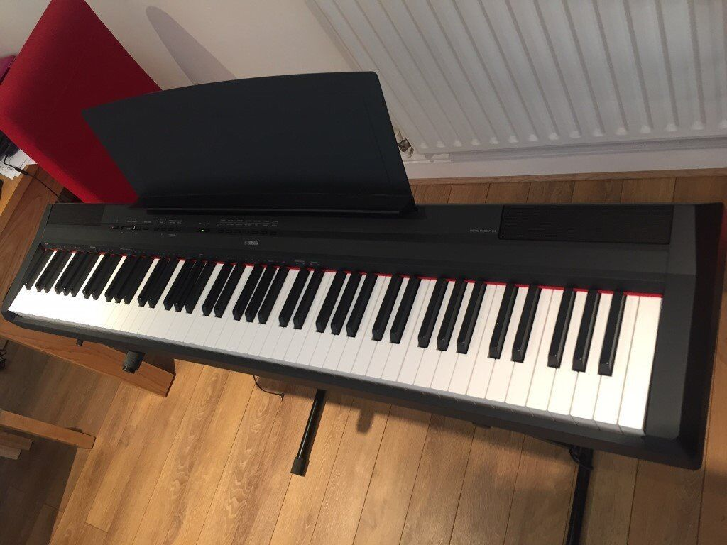 yamaha p115 b digital piano nearly new in clapham. Black Bedroom Furniture Sets. Home Design Ideas