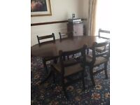 Dining room table - mahogany (reproduction)