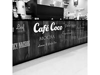 cafe coco italian coffee house ... looking for part time staff , full training will be give and paid