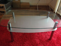 Glass coffee table - collection only - offers accepted