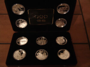 Canadian Mint Olympic Centennial Silver Coin Collection1896-1996
