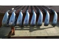 PING G MAX IRONS 4 - PW + UW - Reg Flex - Black dot - hardly used in great condition