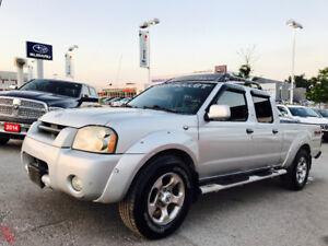 2004 NISSAN FRONTIER CREW CAB 4X4,AUTO, COLD AIR, RUNS GREAT