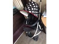 Malibu XL pushchair and carry cot