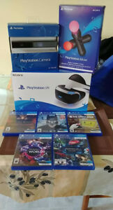 Playstation VR bundle with a few games