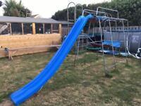 Climbing frame and 12ft slide