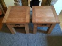 Barker & Stonehouse oak side tables