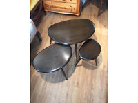 ERCOL pebble nest of tables , in good condition . Must be seen ....... Free local delivery.