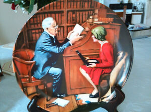 """Norman Rockwell Plate """"The Professor"""" Limited Edition Knowles"""