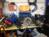 Power tools saws drills materials yard closing e11