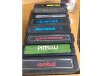 8 Atari 2600 cartridge games , not boxed