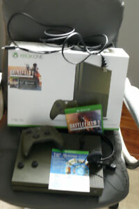 XBox One S  ARMY GREEN  1TB Special Edition - Battlefield 1