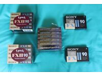 Blank C90 cassette tapes - Unused and still cellophane wrapped - 19 available £2 each