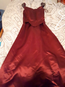 Burgundy ball gown. Worn once