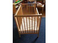 Solid hardwood cot