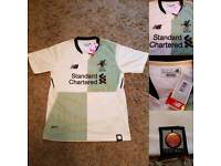 Bnwt liverpool fc away shirt 17/18