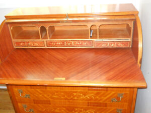 INLAID ROLL TOP DESK
