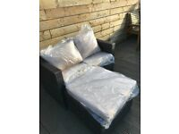 Outdoor garden rattan set 2/3 seater - delivery available