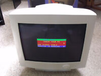 17 inch CRT Computer Colour Monitor with VGA cable and mains lead