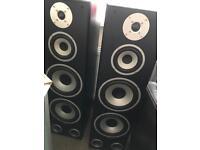 Floor mounted Tibo audio speakers