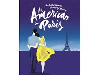 Two An American In Paris Theatre tickets-2nd row