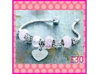 Candy Pink Charm Bracelet