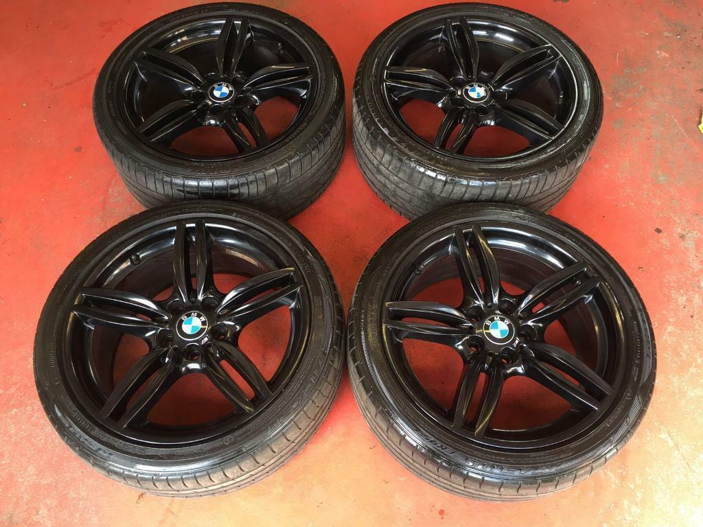 19 Genuine Bmw Black F10 M Sport 351 Alloy Wheels Tyres
