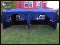6 x 3 metre blue gazebo