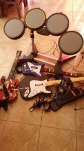rock band et guitar hero pour playstation 2