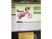 BNITB Girls children's bike 16inch pink