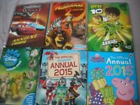 Selection of children's annuals - as new - perfect condition not written in