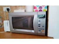 LG 800w microwave for sale, silver