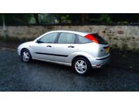 2002 FORD FOCUS ZETEC 1.6 MOT END SEPT LOW MILEAGE FAB DRIVER GREAT EXAMPLE £395