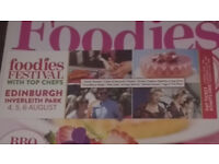 FOODIES FESTIVAL 4-6 AUG - 2 TICKETS AVAILABLE!