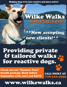 Professional Private Dog Walks (Reactive Dogs Welcome!)