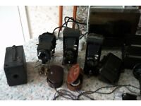 Old cameras and miscellaneous film equipment