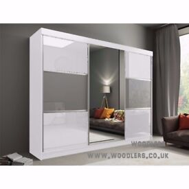 CHEAPEST IN TOWN- BUY NOW- BRAND NEW HIGH GLOSS Rumba Sliding 2 Door German Wardrobe -
