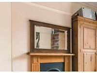 Victorian over mantle mirror