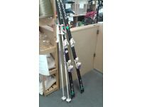 Set of skis and poles