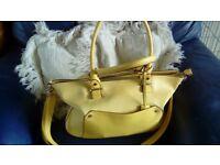 Bright yellow large handbag