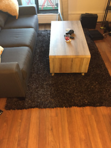 """Black/Mixed grey 63x89"""" rug"""