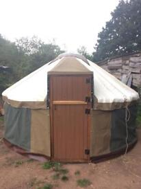 12ft Yurt. Camping Glamping. Garden pod. Nearly new yurt for secondhand price