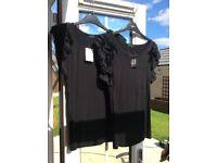 Women's black stretch teeshirts