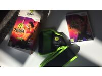 Wii Zumba fitness and belt in box